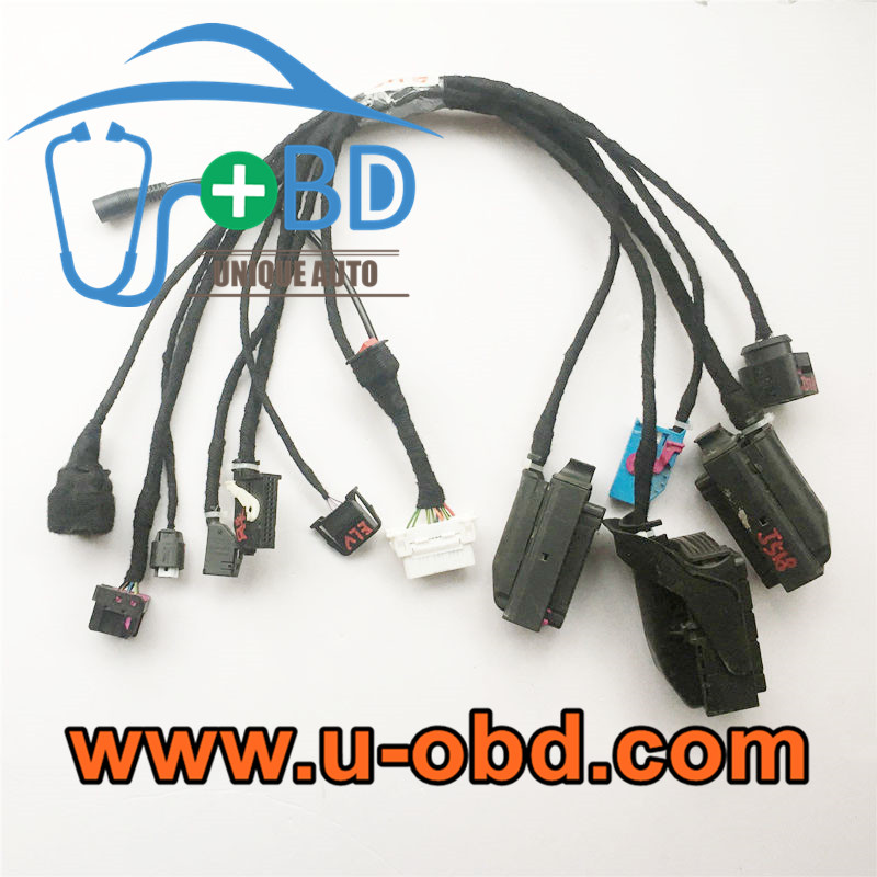 4th Gen AUDI A8 on bench key programming cables test platform