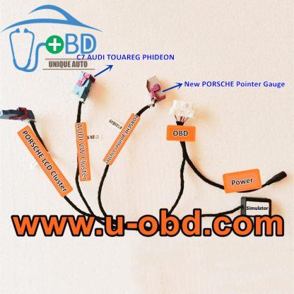 PORSCHE LCD Cluster AUDI TUAREG PHIDEON Cluster PORSCHE pointer gauge repairing test platform