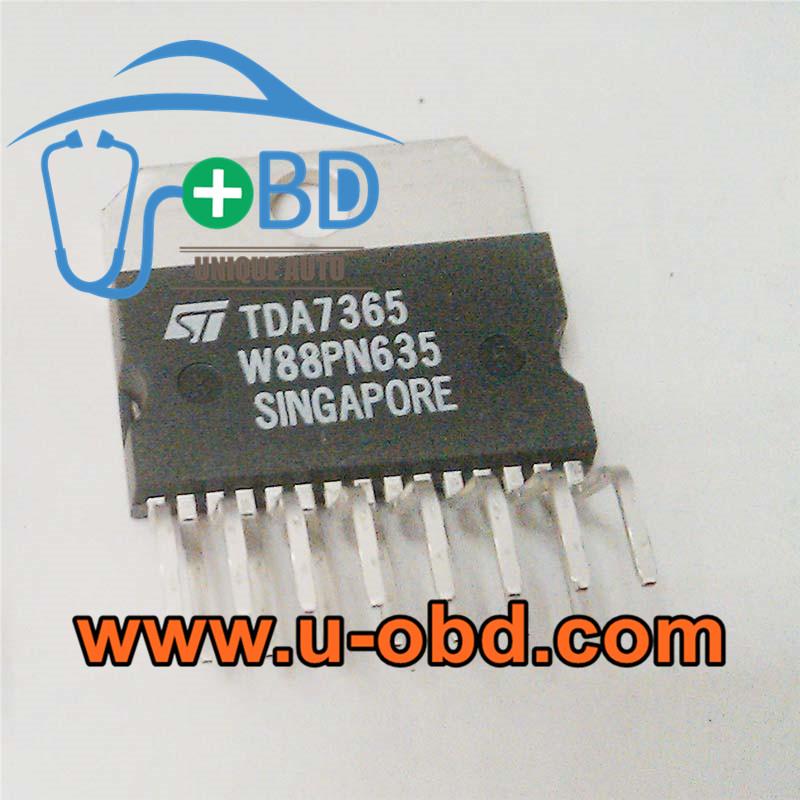 TDA7365 Car head unit amplifier vulnerable chips