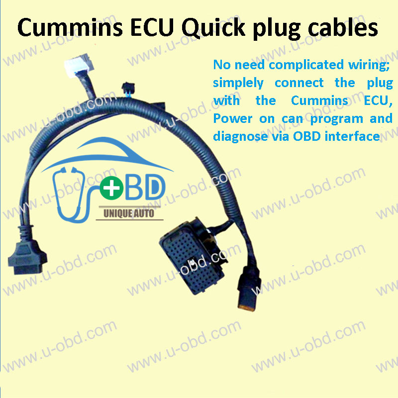 Cummins ECU quick diagnose and programing cables