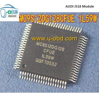 MC9S12DG128CFUE 1L59W Audi A6 J518 module vulnerable CPU