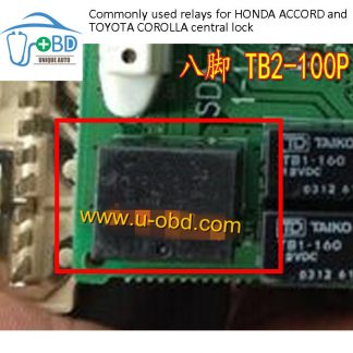 TB2-100P Commonly used relays for HONDA ACCORD and TOYOTA COROLLA central lock