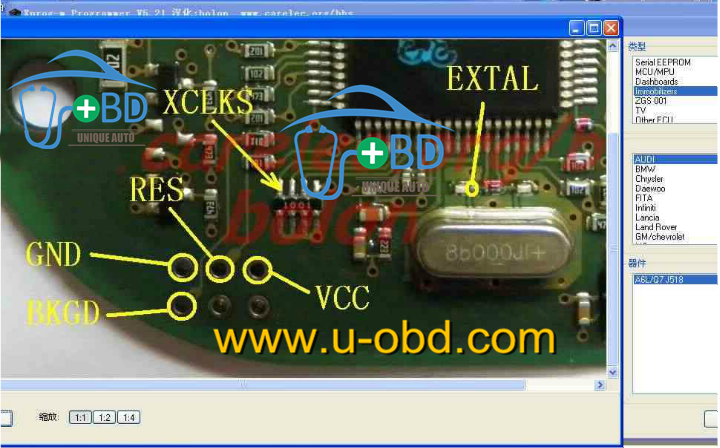 XPROG Read J518 MCU