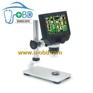 Circuit board repair high definition digital microscope with 4.3 inch screen