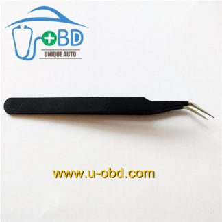 Elbow Sharp tip tweezer angle head Needle - nosed tweezers for IC chip grip