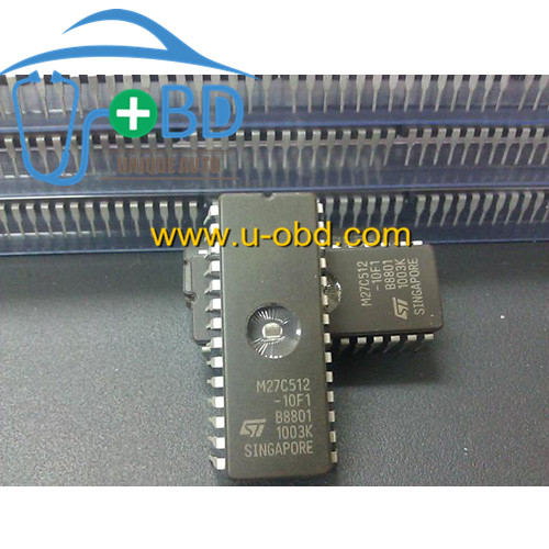 M27C512-12F1 Widely used vulnerable FLASH chip for automotive ECU