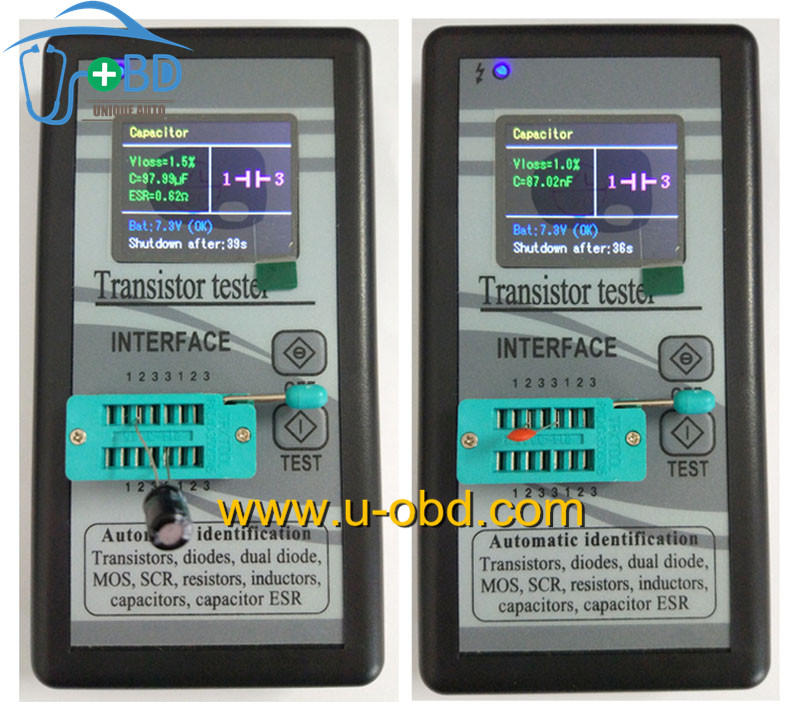 Multifunction transistor tester diode resistor capacitor inductor tester