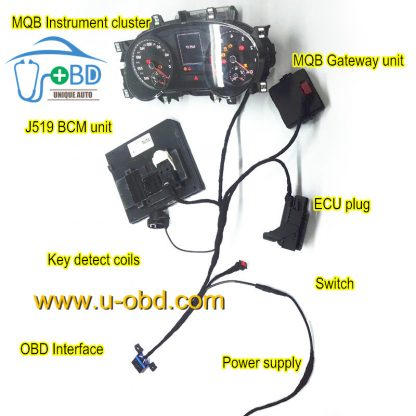 Volkswagen MQB platform key making cables testing platform all key lost
