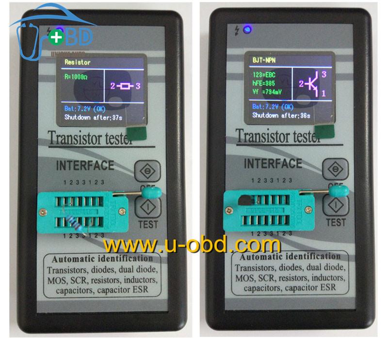 transistor diode resistor capacitor inductor tester