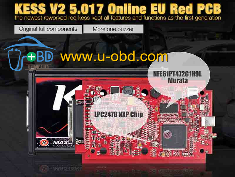 Best quality Version KESS V2 V5.017 EU Red PCB