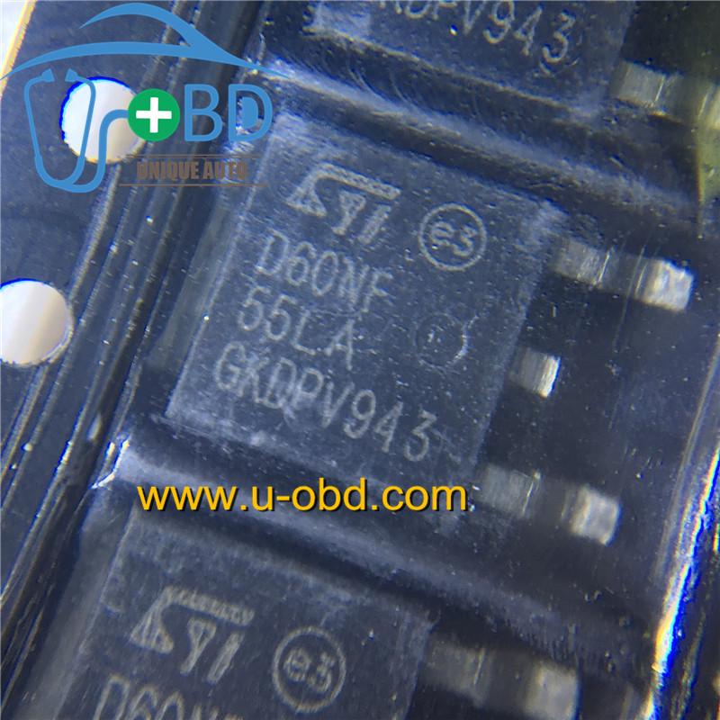 D60NF55LA widely used automotive ECU driver chips