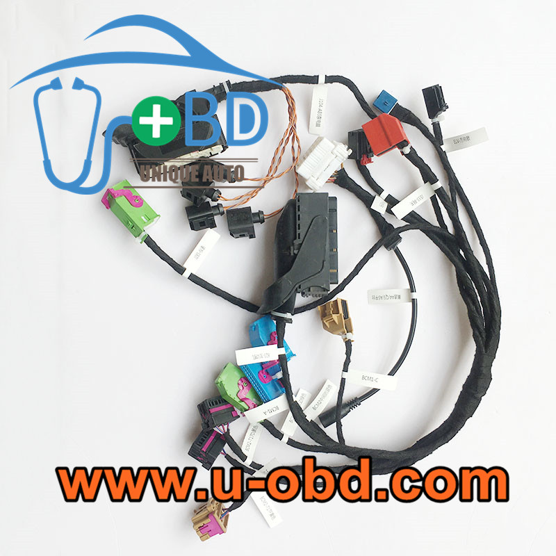 AUDI 5th WFS A4 Q5 on bench test platform harness key programming cables
