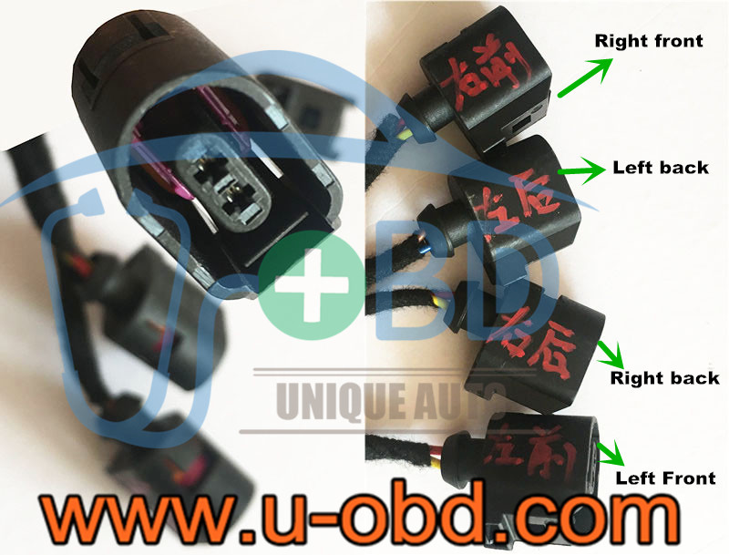 AUDI A4 Q5 key adaption cables ABS test harness