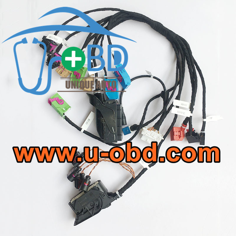 AUDI A4 Q5 key programming on bench ELV ABS test platform
