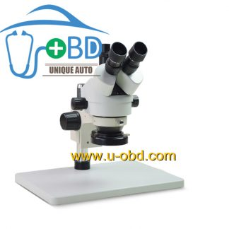 Automotive circuit board repairing microscope with LED 7-180X continuous amplification