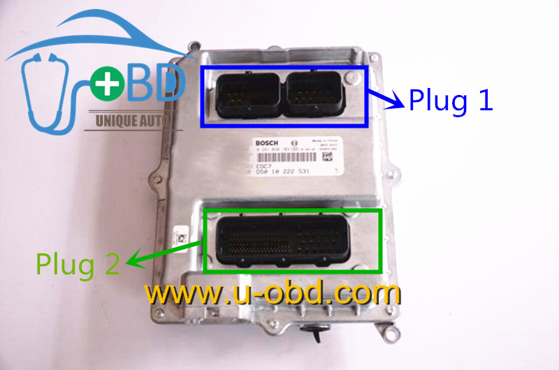 EDC7 ECU female plug
