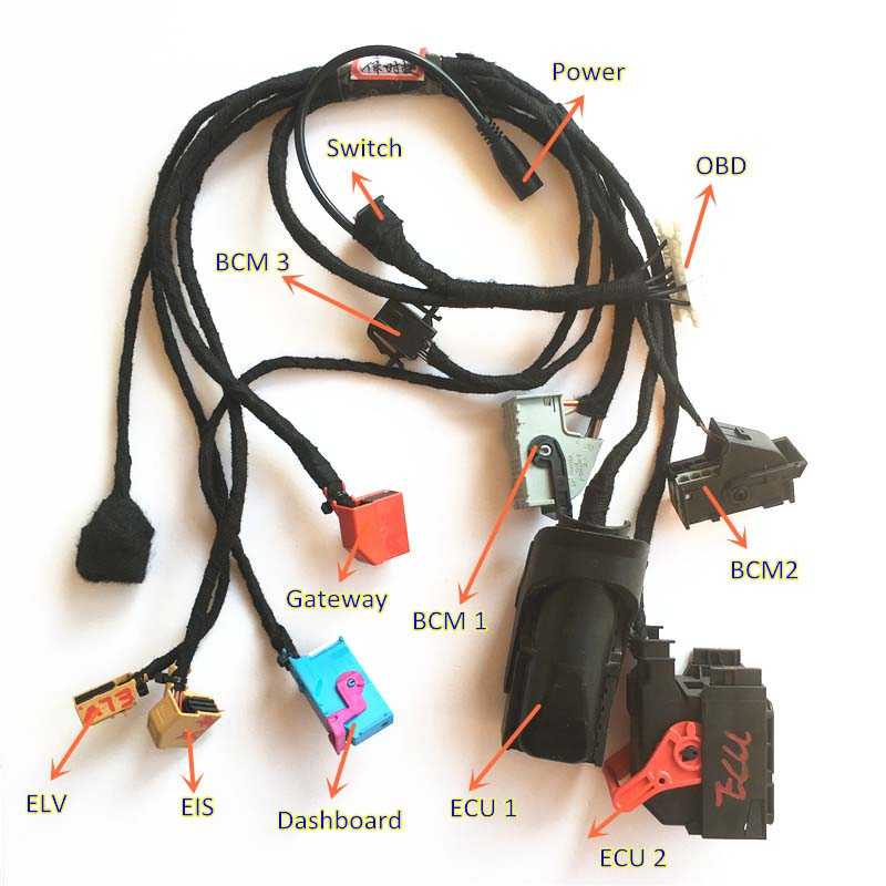 New PORSCHE key programming cables remote key duplicate harness