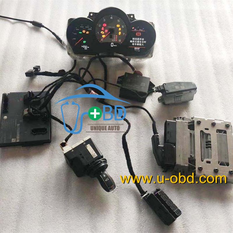 PORSCHE test platform key adapting cables