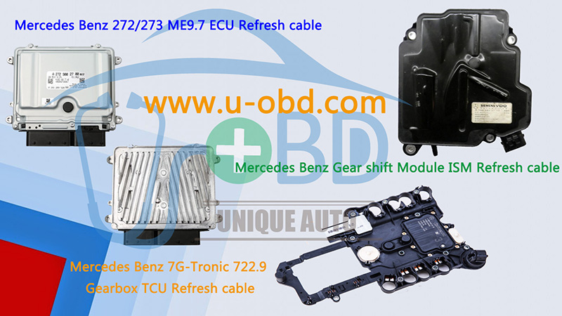 Mercedes Benz 272 ME9.7 ECU 722.9 TCU ISM Module refresh cables