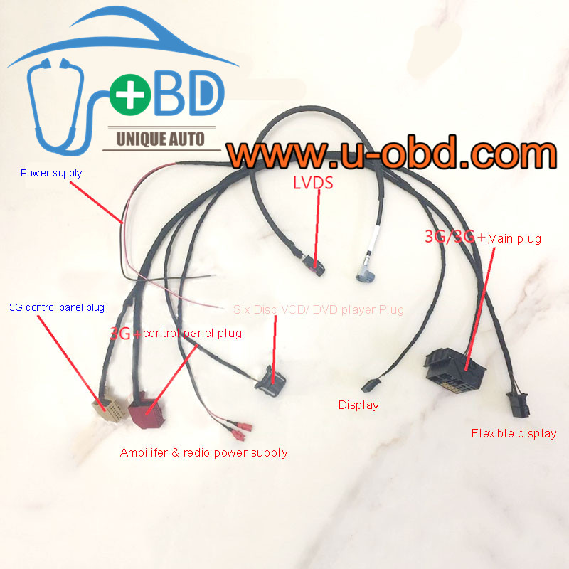 AUDI 3G 3GPlus Audio entertainment host machine test platform harness cables