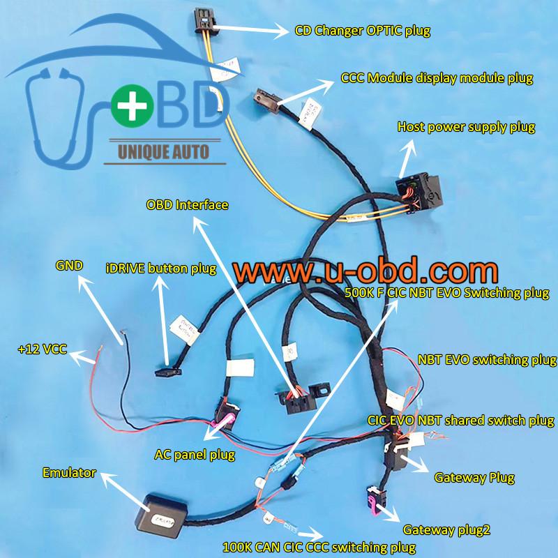 BMW NBT EVO CCC CIC test platform cables coding programming harness