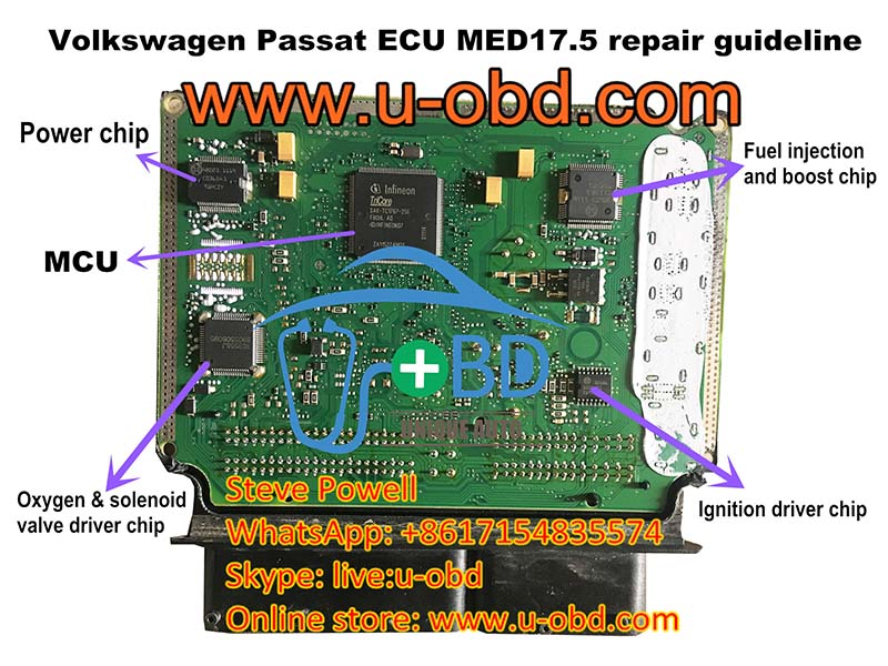 Volkswagen Passat ECU MED17.5 repair solution repair guideline