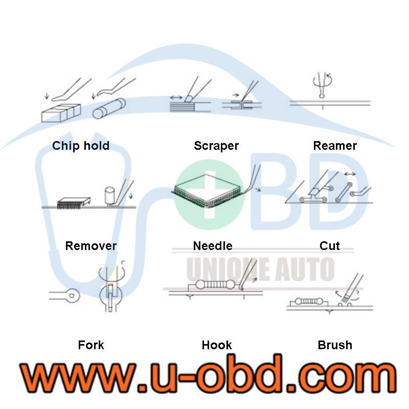 Automotive control unit circuit board repair tools kit