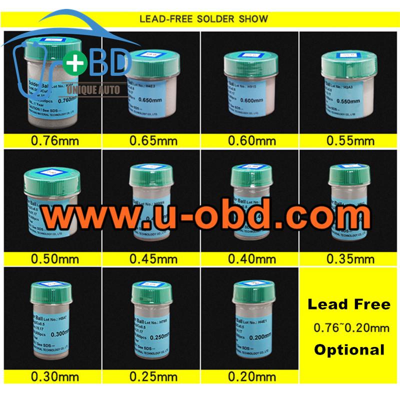 Solder ball RoHS lead free BGA reballing Solder ball kit