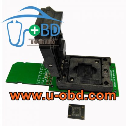 BGA153 EMMC testing programing sockets SD interface