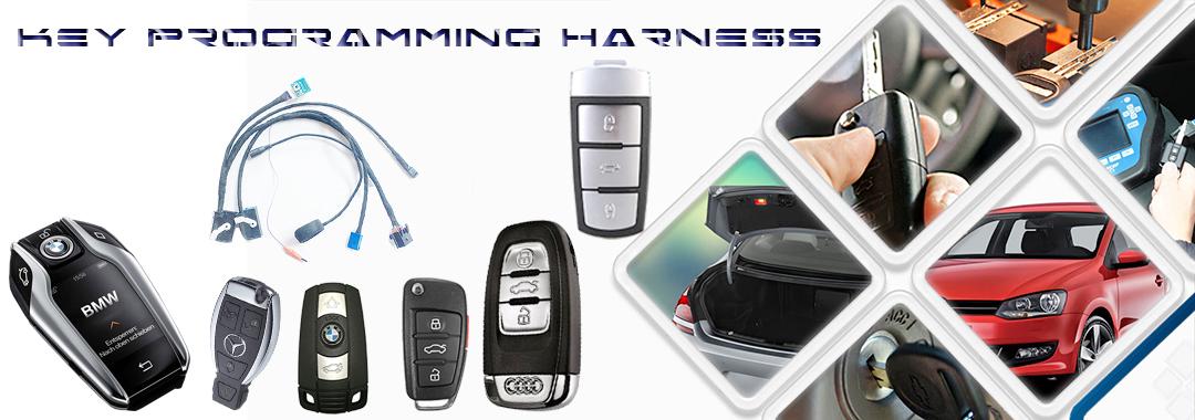 Car key programming harness on bench test platform cables