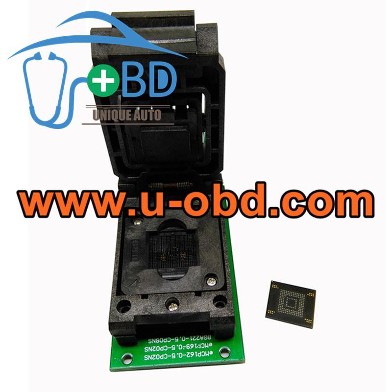 BGA153 BGA169 EMMC reading writing sockets SD Interface