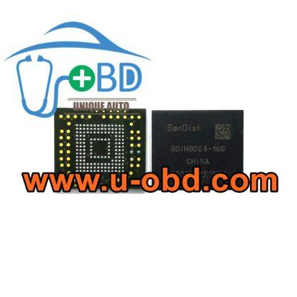 SDIN8DE4-16G BGA153 Vulnerable car Head unit EMMC memory chip