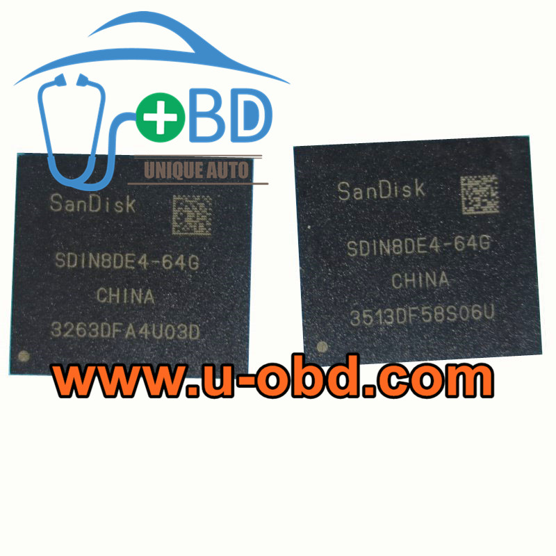 SDIN8DE4-64G Commonly used Car head unit EMMC chip