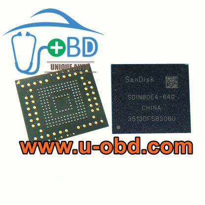 SDIN8DE4-64G car audio host EMMC chip SANDISK 64GB