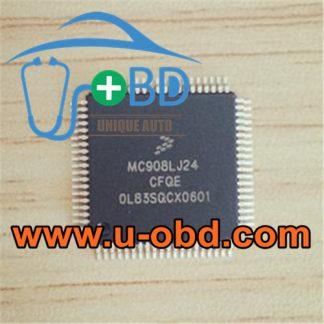 MC908LJ24CFQE automotive ECU vulnerable MCU chips