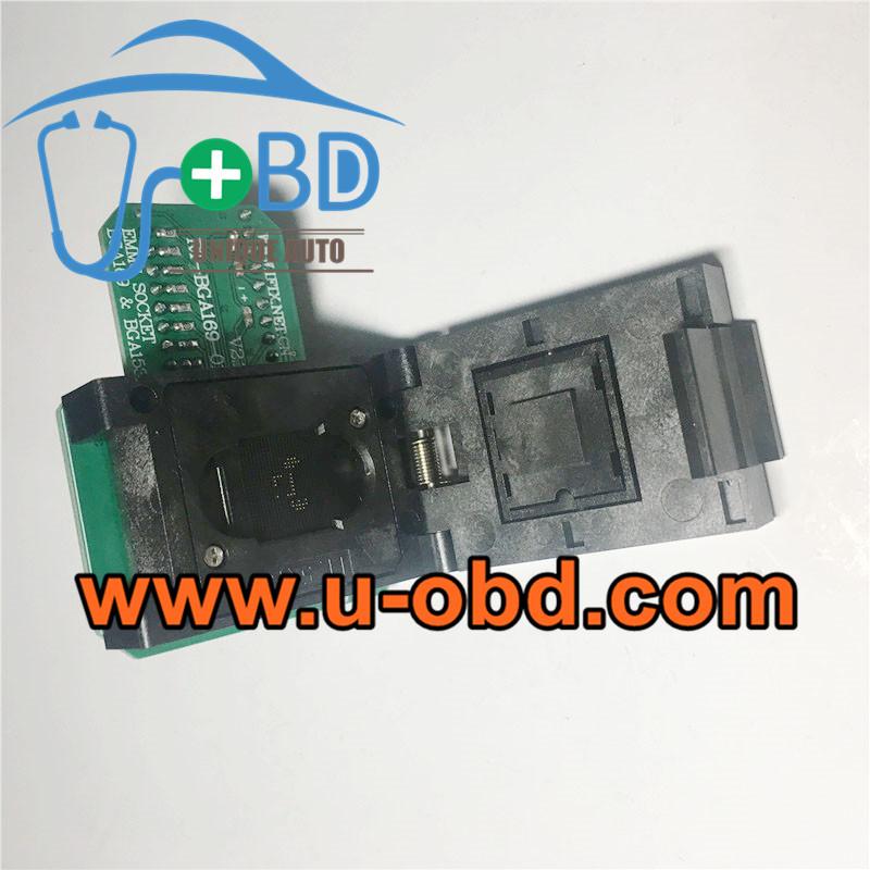Car head unit EMMC BGA Chip BGA169 BGA153 Programming adapter