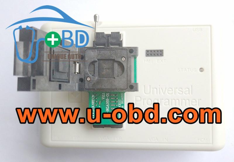 Car multimedia head unit BGA169 BGA153 EMMC chip programming socket