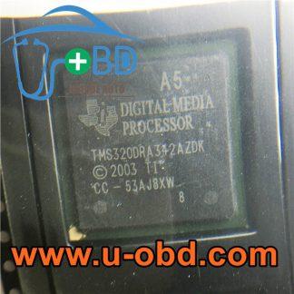 A5 TMS320DRA342AZDK AUDI Head unit vulnerable chips