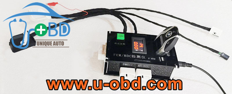 BMW FEM BDC test platform ELV key programming harness