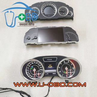 Mercedes Benz W166 W204 W212 W221 Chassis car instrument cluster bench power on dashboard test platform