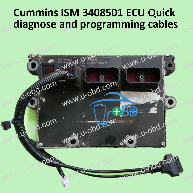 Cummins ISM 3408501 ECU Quick diagnose and programming cables