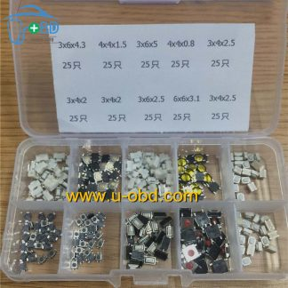 Automotive remote keys switch kit 10 types 250 PCS
