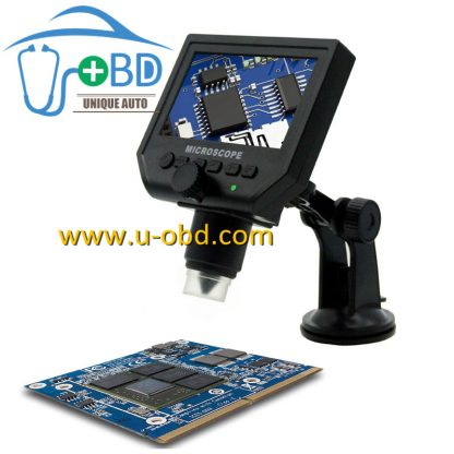 1-600 times magnifition circuit board repair high definition digital microscope with screen plastic frame