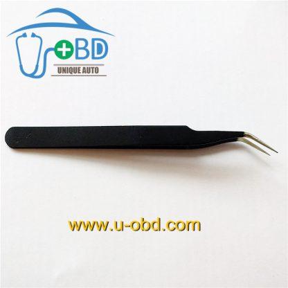 Elbow Sharp tip tweezer angle head Needle - nosed tweezers for IC chip grip