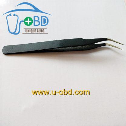 Elbow Sharp tip tweezer angle head Needle - nosed tweezers for IC chip grip (1)
