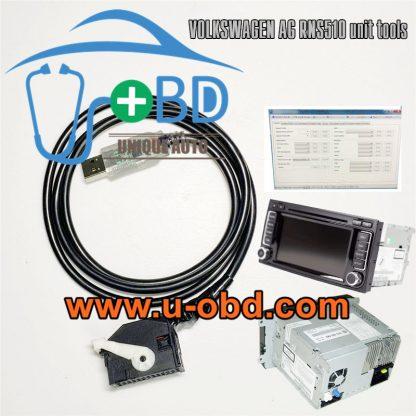 VOLKSWAGEN AG Car Head unit RNS510 firmware update wipe data password reading tools