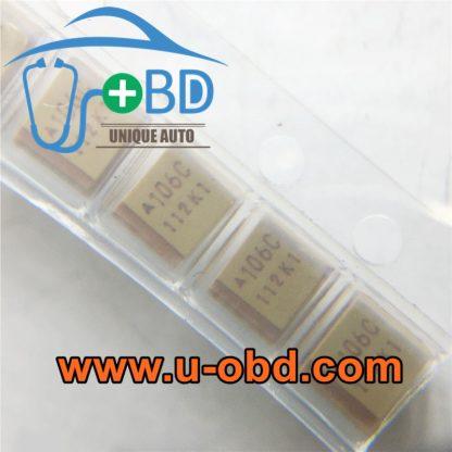 106C 10uF 16V Tantalum capacitor 3.5mm 2.8mm
