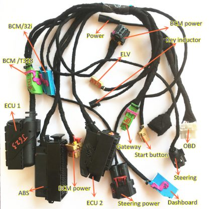 AUDI A8 A6 fifth generation immobilizer key duplicate remote key programming harness making key on the bench