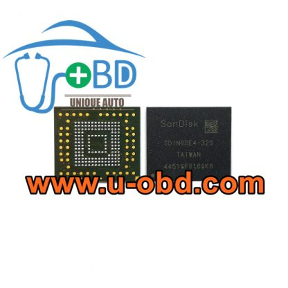 SDIN8DE4-32G BGA153 Vulnerable car Head unit EMMC memory chip