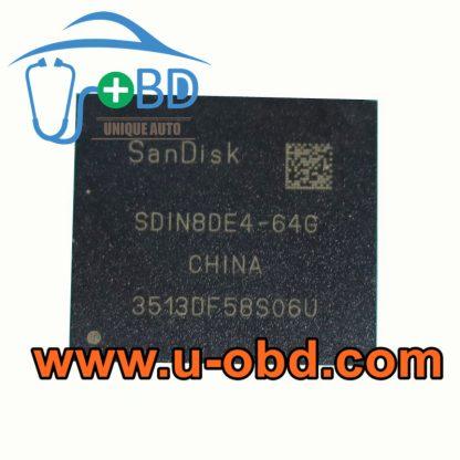 SDIN8DE4-64G Car multimedia host EMMC chip